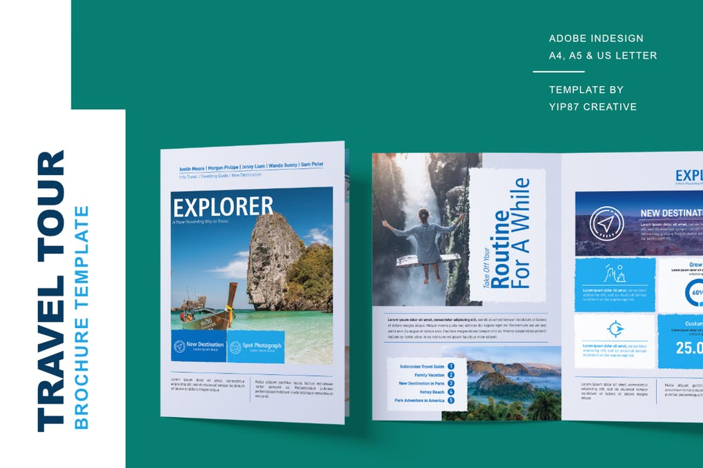 Explorer - 35 + Calm PSD & InDesign Travel Brochure Templates [year]
