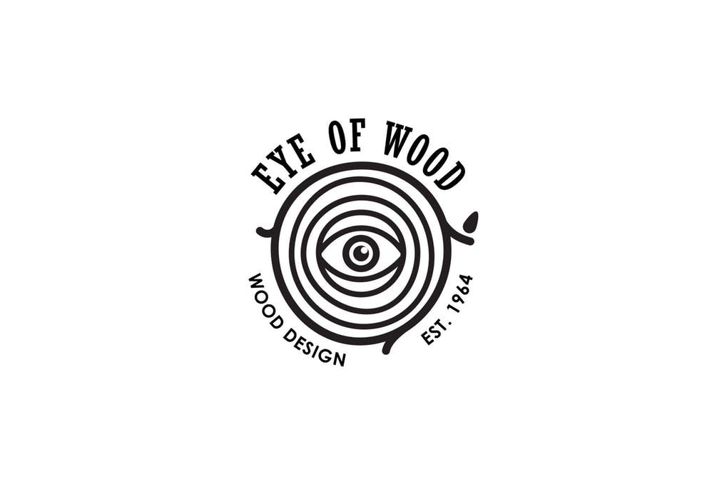Eye-Of-Wood - 35+ Awesome Eye Logo Design Templates [year]
