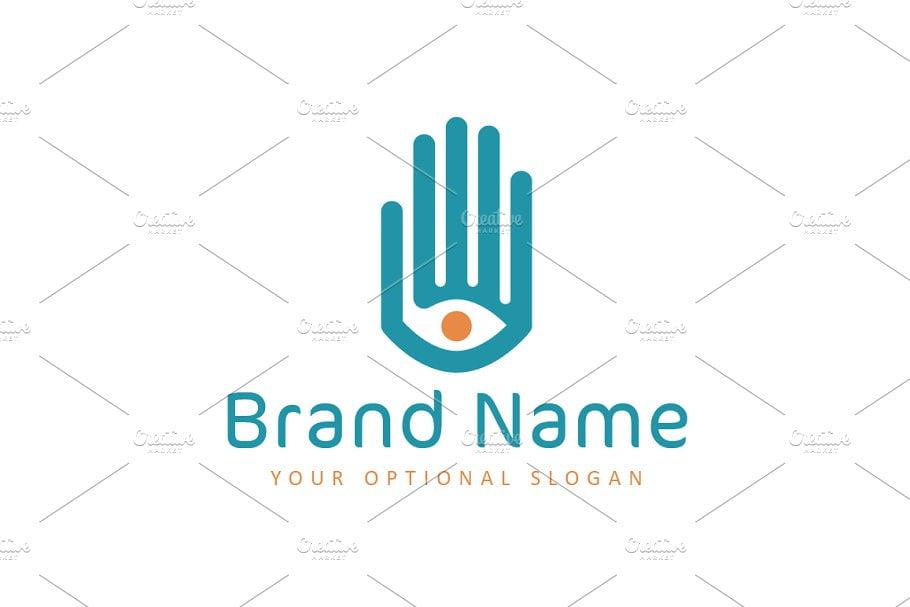 Eye-in-Hand-Logo - 35+ Awesome Eye Logo Design Templates [year]