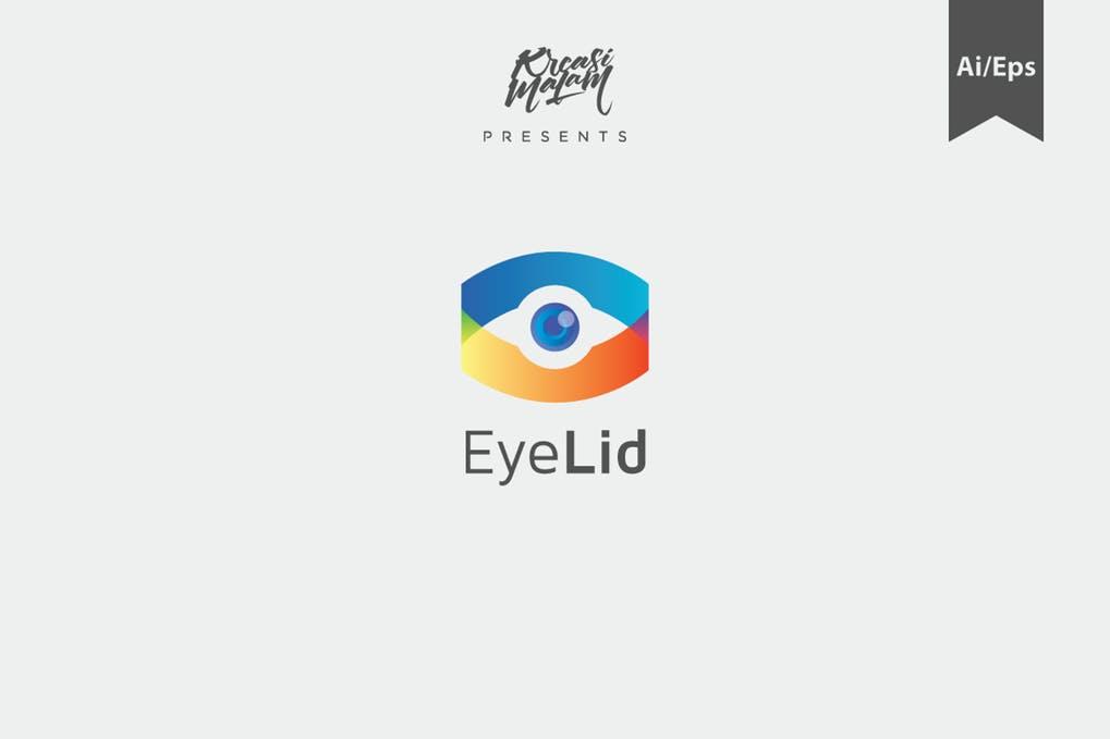 EyeLid-Logo-Template - 35+ Awesome Eye Logo Design Templates [year]