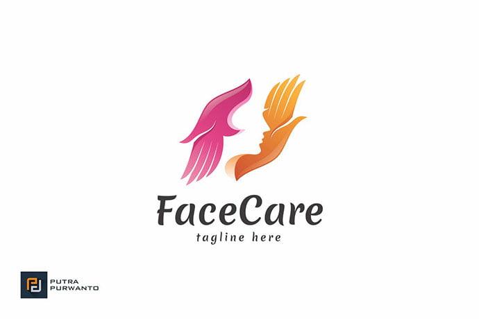Face-Care - 50+ Stunning Beauty Salon Logo Design Templates [year]