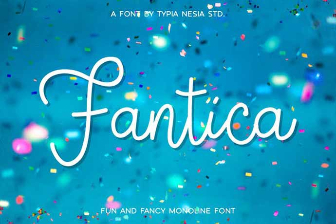 Fantica - 52+ Wonderful Fonts for Calligraphy Logo Design [year]
