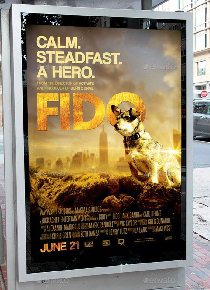 Fido-Movie-Poster-Template - 35+ Nice PSD Movie Poster Design Templates [year]