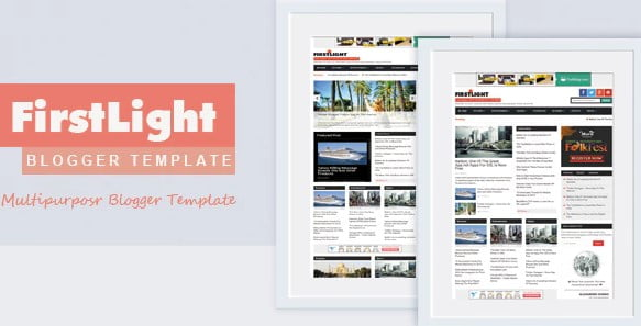 FirstLight - 35+ Best Stunning Blogger One Page Template [year]