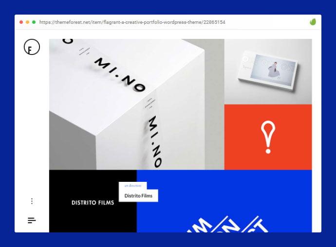 Flagrant - 35+ Minimal WordPress Theme Designs For Creatives [year]