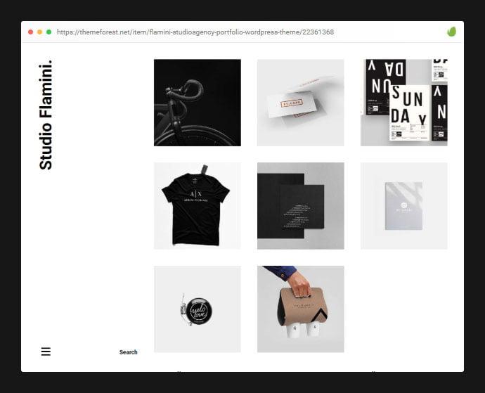 Flamini - 35+ Minimal WordPress Theme Designs For Creatives [year]