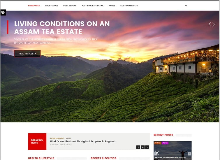 FlashNews - Top 60+ News Magazine WordPress Themes [year]