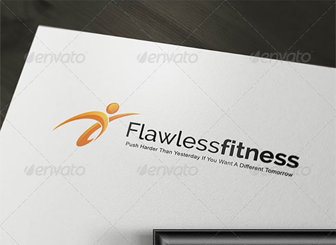 Flawless-Fitness - 32+ Amazing Personal Logo Design Templates [year]