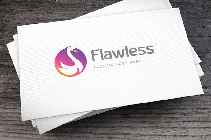 Flawless-Logo-Template - 50+ Stunning Beauty Salon Logo Design Templates [year]