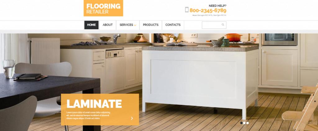 Flooring-1 - 60+ HTML Interior & Furniture Website Templates [year]
