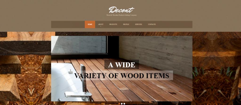 Flooring-4 - 60+ HTML Interior & Furniture Website Templates [year]