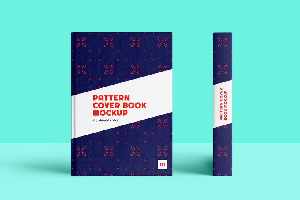 Floral-Pattern-Cover-Book-Mockup - 35+ PSD Book Cover Mockup Templates [year]