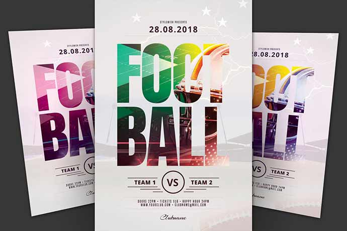 Football-Flyer - 35+ Attractive Double Exposure PSD Flyer Design [year]