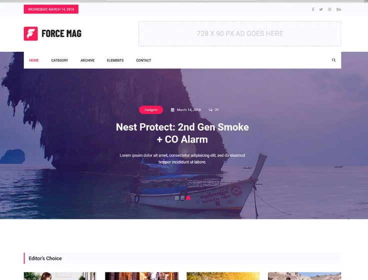 Force-1 - 42+ Best Free News Website Templates [year]