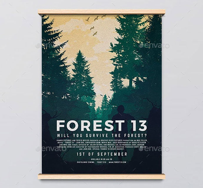 Forest-13-Movie-Poster - 35+ Nice PSD Movie Poster Design Templates [year]