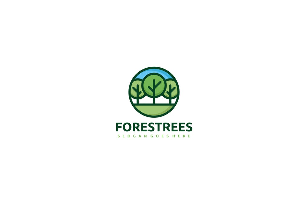 Forest-Trees - 60+ Strong Tree Logo Design Templates [year]