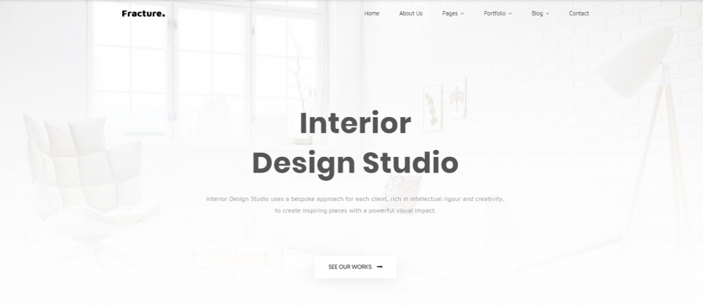 Fracture - 60+ HTML Interior & Furniture Website Templates [year]