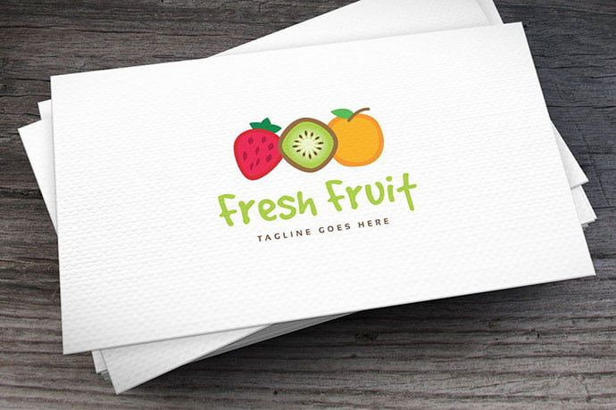Fresh-Fruit-Logo-Template - 30+ Stunning Fruit & Vegetable Logo Design Templates