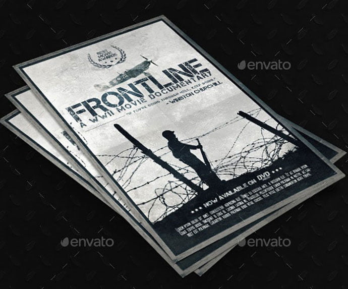 Frontline-Movie-Poster - 35+ Nice PSD Movie Poster Design Templates [year]