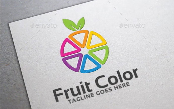 Fruit-Color-Logo-Template - 30+ Stunning Fruit & Vegetable Logo Design Templates