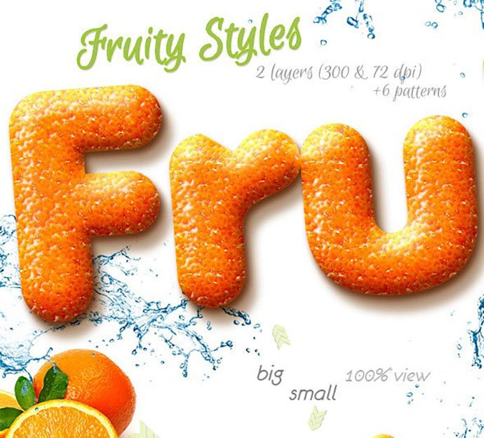 Fruity-Styles - 35+ Tasty Food & Drink Photoshop Text Effects