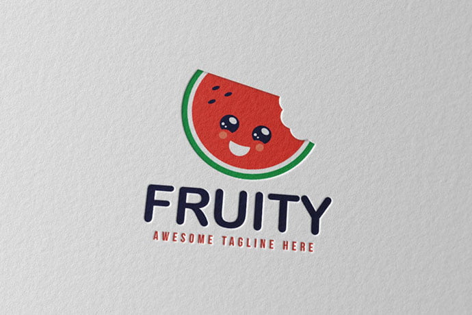 Fruity - 30+ Stunning Fruit & Vegetable Logo Design Templates
