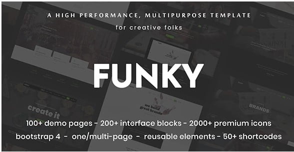 Funky - 35+ Awesome One Page Creative Blogger Template [year]