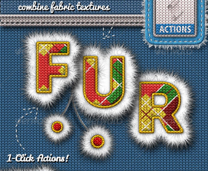 Fur-and-Knitted-Fabric-Photoshop-Actions - 30+ Embroidery Effect Photoshop Actions & Brushes