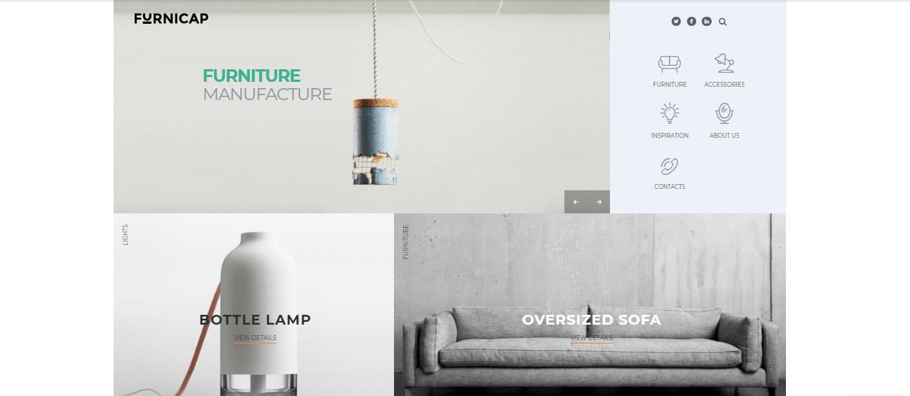Furnicap - 60+ HTML Interior & Furniture Website Templates [year]
