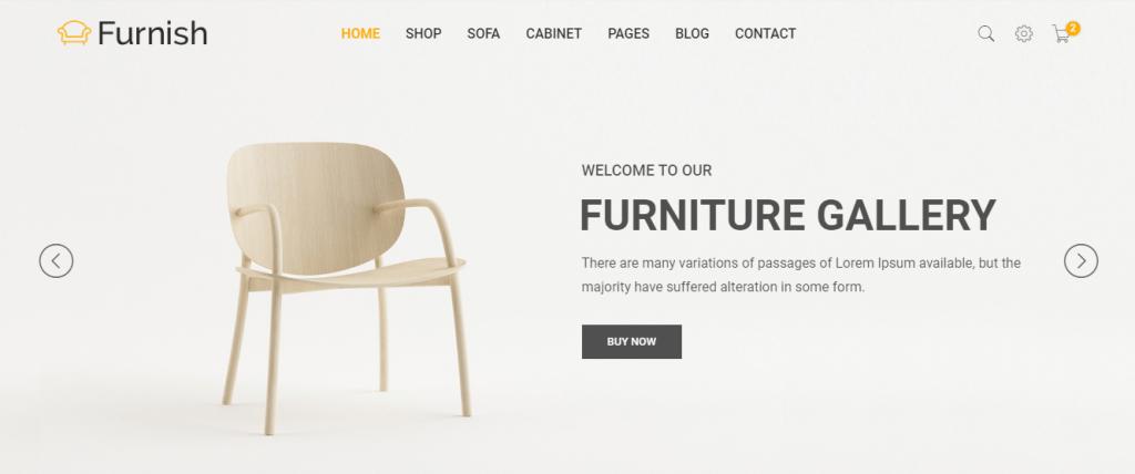 Furnish - 60+ HTML Interior & Furniture Website Templates [year]