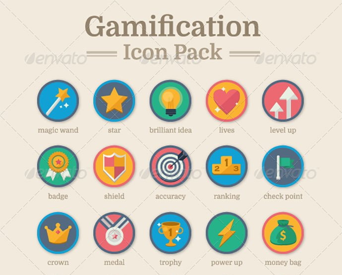 Gamification-Icon-Pack - 35+ Fantastic Game Icon Sets [year]
