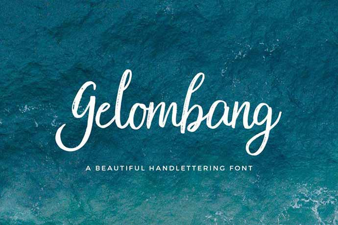 Gelombang-Font - 52+ Wonderful Fonts for Calligraphy Logo Design [year]