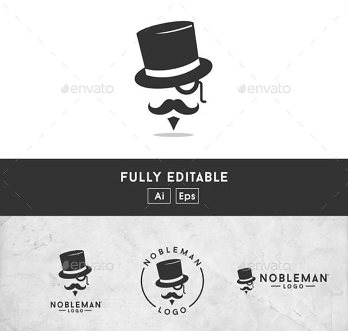 Gentleman - 32+ Amazing Personal Logo Design Templates [year]
