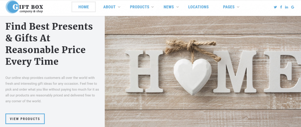 Gift-Box - 60+ HTML Interior & Furniture Website Templates [year]