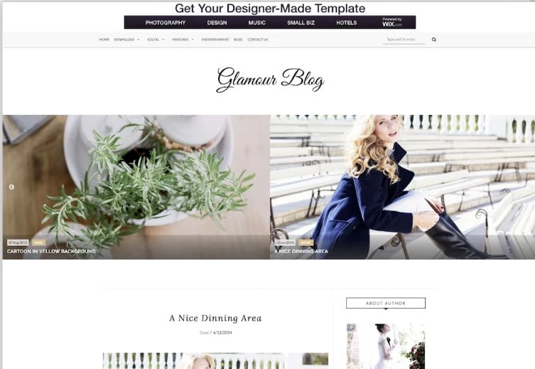 Glamour - 60+ Best Free Responsive News Blogger Templates [year]