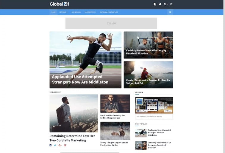 Global - 60+ Best Free Responsive News Blogger Templates [year]