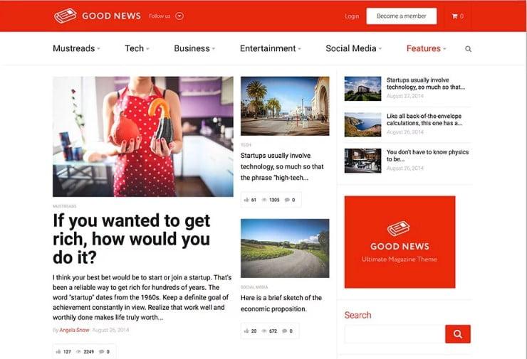 Good-News - 46+ Best WordPress Newspaper Themes for News Sites [year]