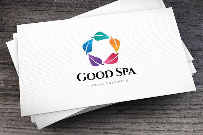 Good-Spa-Logo-Template - 50+ Stunning Beauty Salon Logo Design Templates [year]
