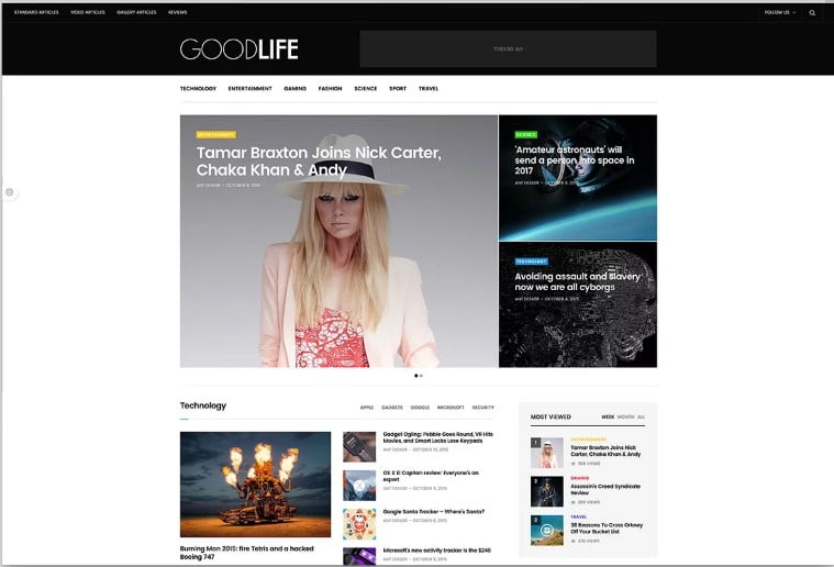 GoodLife-1 - 46+ Best WordPress Newspaper Themes for News Sites [year]