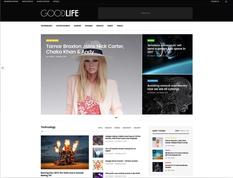 GoodLife - Top 60+ News Magazine WordPress Themes [year]