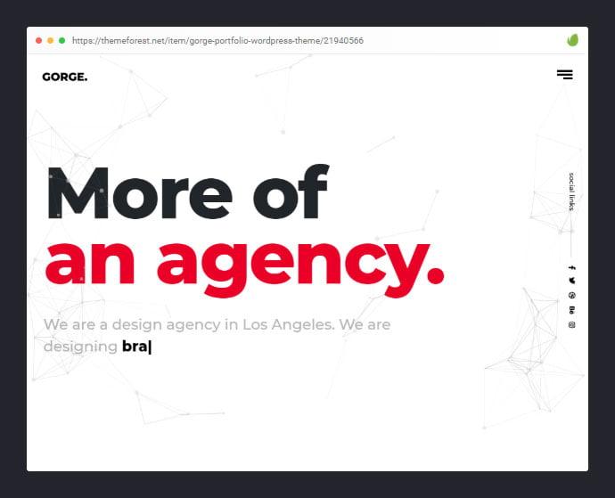 Gorge - 35+ Minimal WordPress Theme Designs For Creatives [year]