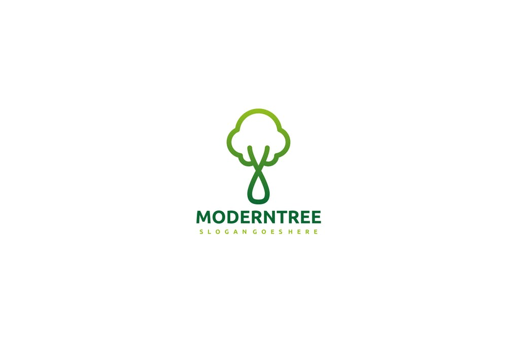 Green-Tree-1 - 60+ Strong Tree Logo Design Templates [year]
