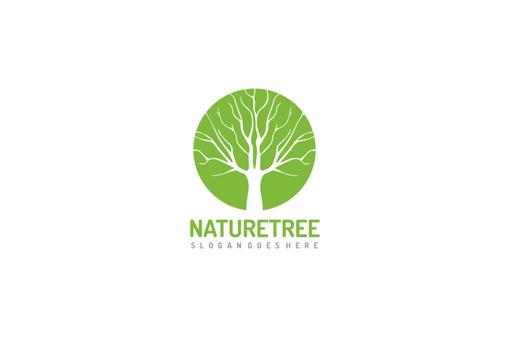 Green-Tree-2 - 60+ Strong Tree Logo Design Templates [year]
