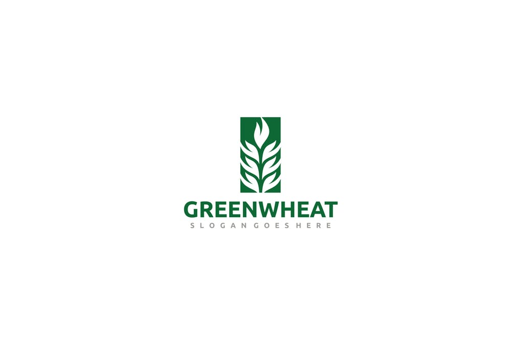 Green-Wheat - 60+ Strong Tree Logo Design Templates [year]