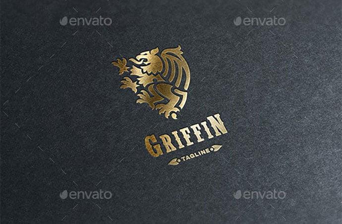 Griffin-Logo - 35+ Amazing Heraldry Logo Design Templates [year]