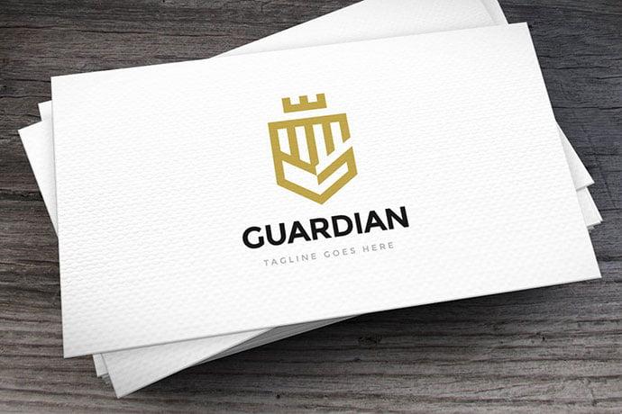 Guardian-Logo-Template - 35+ Amazing Heraldry Logo Design Templates [year]