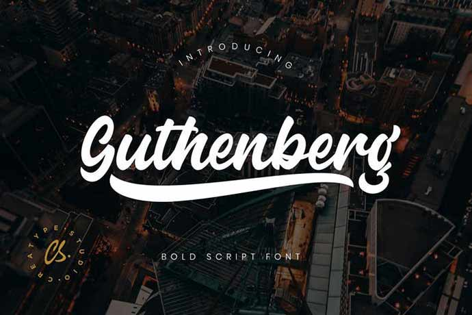 Guthenberg-Bold-Script - 52+ Wonderful Fonts for Calligraphy Logo Design [year]