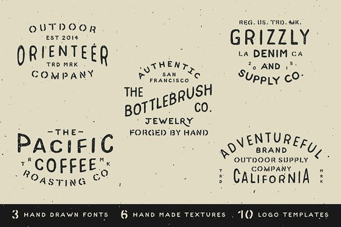 Hand-Drawn-Branding-Badge-Kit - 30+ Amazing Hand Drawn Badge Logo Design Templates [year]
