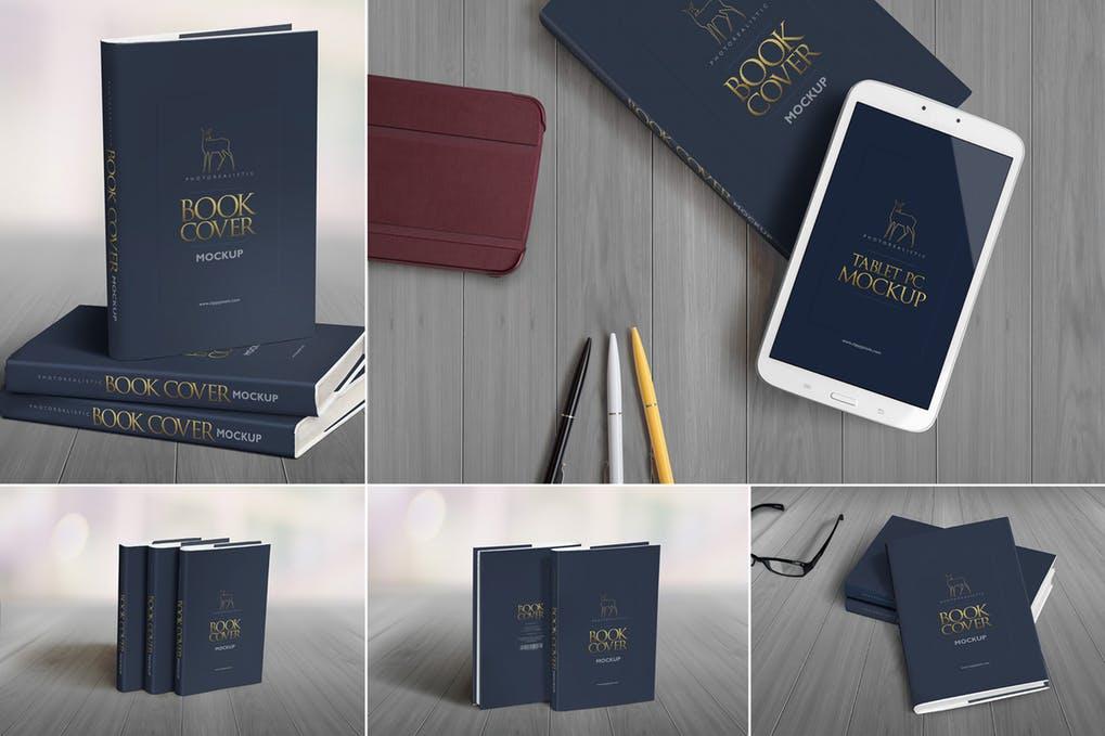Hard-Book-Mockups - 35+ PSD Book Cover Mockup Templates