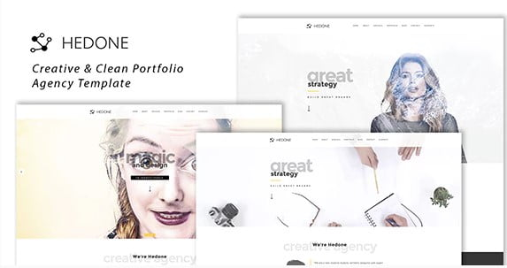 Hedone - 35+ Awesome One Page Creative Blogger Template [year]